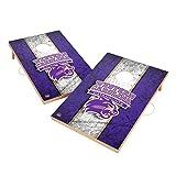 Victory Tailgate Western Carolina University Catamounts WCU NCAA Solid Wood 2x3 Vintage Cornhole Game Set - 2 Boards, 8 Bags
