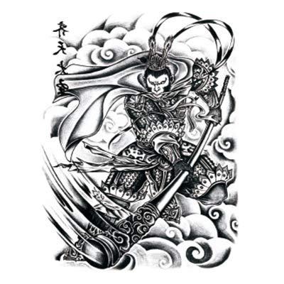 Zhuhuimin Directe bloem arm tattoo stickers halve arm kleur Geisha waterdichte mode tattoo stickers set van 5