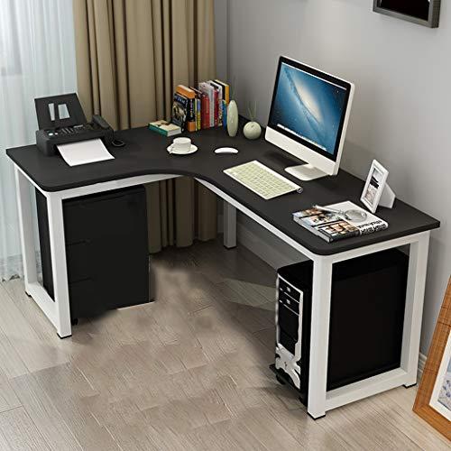 Table L-förmiger Schreibtisch Computer Ecktisch für Home Office Holz und Metall Stahlrohr Notebook Computer Schreibtisch