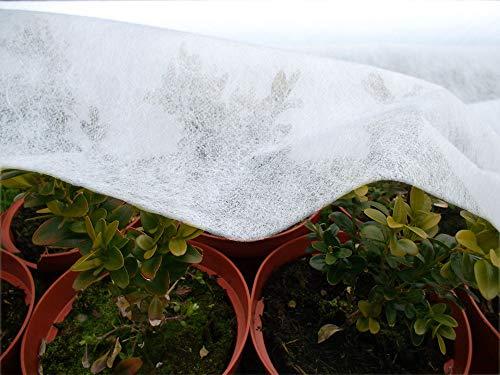 Fashion-Sonderposten Gartenvlies Frühbeetvlies Pflanzenschutz in Weiss 17g/m, 1,6 m Breite, 5 m Länge