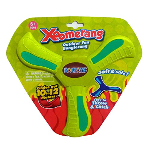 Bumerang 4-12 Jahre alt Bumerang Darts Kinder Bumerang Erwachsenen V-förmigen Pfeil zurückziehen UFO Outdoor Frisbee Stofftier-Kleeblatt grün