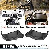 LoraBaber Protectores de la mano Protector de la protección de la mano Protector de la protección de la mano Negro para Honda NC700X NC750X NC750S 2012 2013 2014 2015 2016 2017 2018 2019