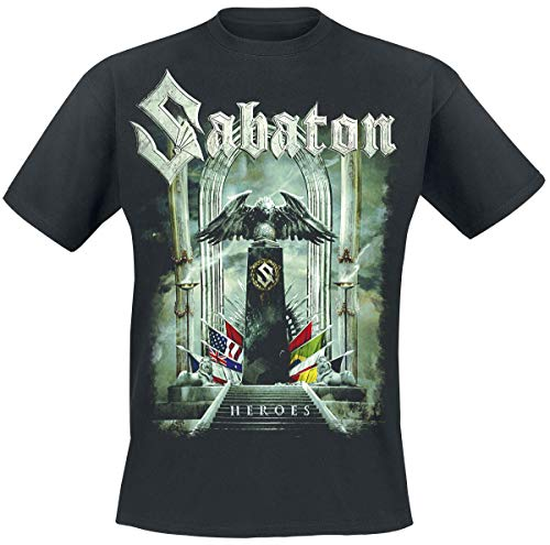 Sabaton Heroes - to Hell and Back Männer T-Shirt schwarz L 100% Baumwolle Band-Merch, Bands