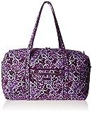 Vera Bradley Women's Signature Cotton Large Travel Duffel Travel Bag, Lilac Paisley, One Size