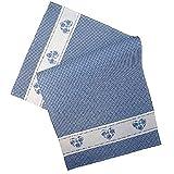 Tischläufer - blau-weiß kariert Stickerei 'Herz' (40/85 cm)