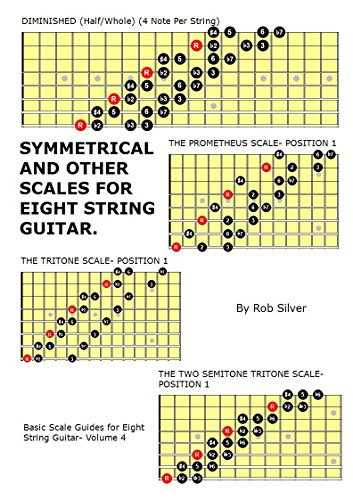 Symmetrical and Other Scales for Eight String Guitar (Basic Scale Guides for Eight String Guitar Book 4) (English Edition)