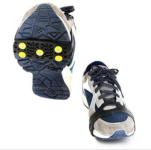 Newin étoile Ice Snow Grips Plus de Traction Crampons de Chaussures en Caoutchouc Pointes antidérapant Crampons 5-Stud à Enfiler Stretch Chaussures