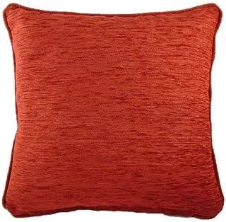Homestreet Cushions Savannah Coussin en Chenille Terre cuite 56 x 56 cm