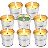 LucaSng Citronella Candles Outdoor Indoor, 2 OZ x 8 Pack Scented Candles Set Bulk Made with Lemongrass Essential Oil Natural Soy Wax for Garden Patio Yard Home Balcony