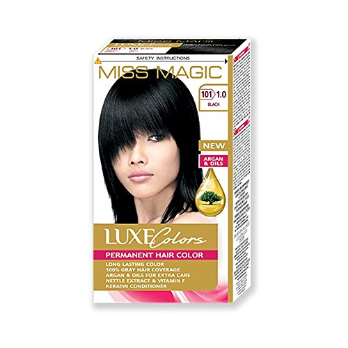 Uni-Haar Miss Magic Färben schwarz Hair Colour mit Argan