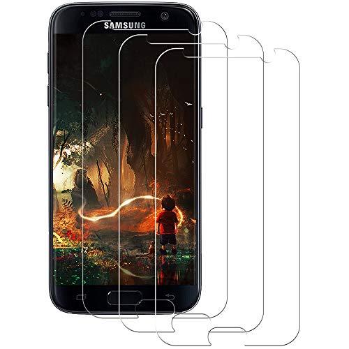 Aspiree Panzerglas Schutzfolie kompatibel mit Samsung Galaxy S7, [3 Stück] Gehärtetes Glas Bildschirmschutzfolie mit 9H Festigkeit, HD Ultra Klar, Anti-Kratzen, Anti-Öl