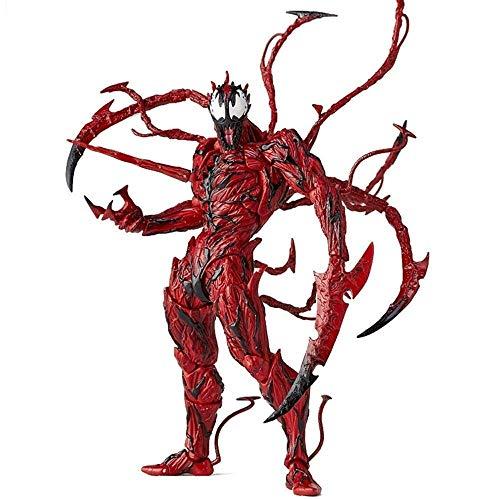 Lfy Modelo De Juguete Personaje De La Película Marvel Avengers Spider-Man Red Venom Matanza Modelo Conjunto Muñeco De Juguete Móvil 17 CM