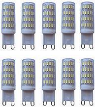 SGJFZD Low Voltage 12-24 Volt AC/DC G9 Led Light Bulbs 40W Halogen Bulb G9 Base Bi Pin Lights LED 3000K/6000K 10-Pack (Col...