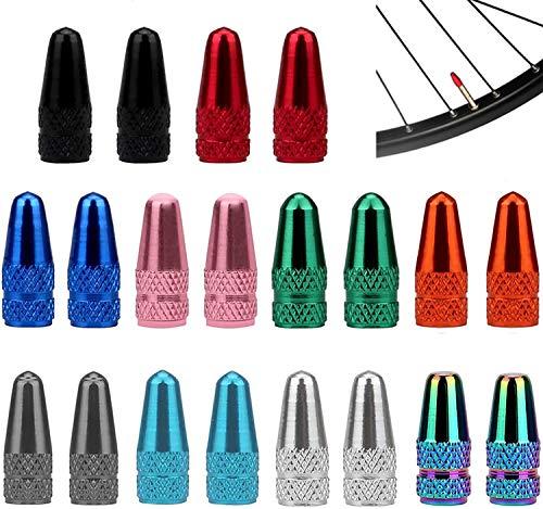 SENZEAL 20 stücke Französisch Staubschutzkappen Aluminiumlegierung Bike Rad Reifen Ventil Abdeckungen