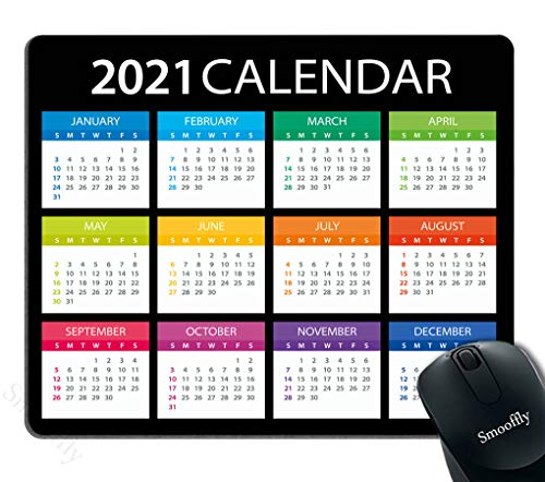Smooffly Office Desk Accessories, 2021 Calendar Mouse Pad, Office Decor for Women, Office Gifts, Desk Decor
