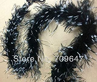 Pukido 1.9Meters/lot Luxury Black & White Ostrich Marabou Feather BOA - Dance, Costume, Burlesque