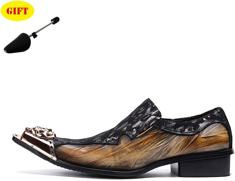 BJHH Low Cut Pointed Herrenschuhe Herrenschuhe Business Casual Leder Herrenschuhe Gelb,braun,EU45 UK9  zum niedrigsten Preis