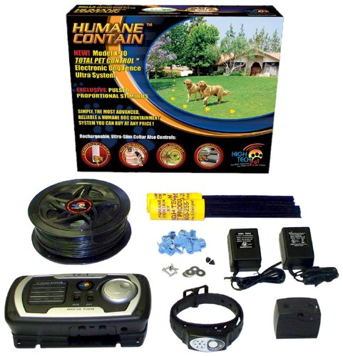 High Tech Pet Humane Contain X-10 Rechargeable Multi-function Electronic Dog Fence