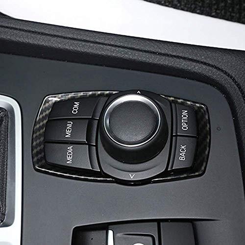 Garniture à Sequins du commutateur multimédia chromé ABS pour série 1 2 3 4 F20 F30 F31 F32 F33 F35 GT Style 2013-2017 en Fibre de Carbone