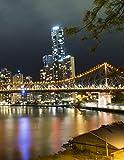 Notebook: Story Bridge Brisbane Queensland Australian Australia Night...
