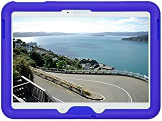 Bobj Rugged Case for Samsung Galaxy Tab 4 10.1 and Tab 3 10.1 -Tablet Models SM-T530, SM-T531, SM-T535, and Other Models SM-T53. - BobjGear Custom Fit - Sound Amplification - (Batfish Blue)