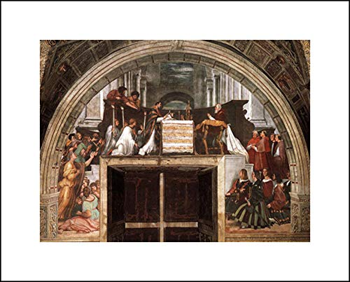Raphael 20x16 Art Print - The Mass of Bolsena, from The Stanza Dell'Eliodor