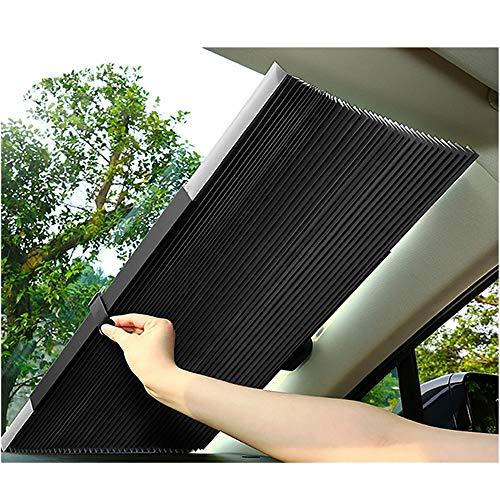 JJ.Accessory - Cortina retráctil para luna de coche de 46 cm/65 cm ,parasol para protección de los rayos UV