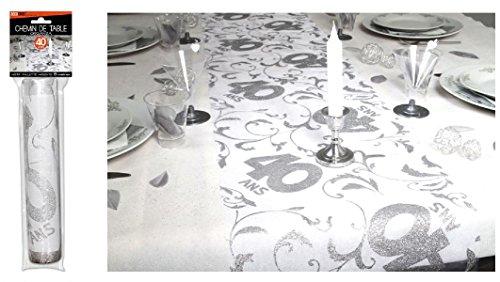 Surprisez vous - Chemin de table 40 ans - 28 cm x 5 m