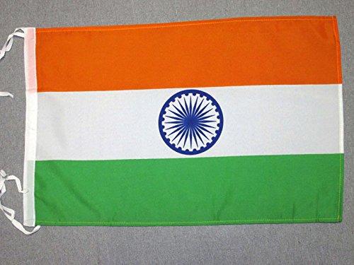 AZ FLAG Flagge Indien 45x30cm mit Kordel - INDISCHE Fahne 30 x 45 cm - flaggen Top Qualität