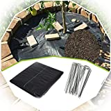 XUEXUE Weed Barrier Fabric, Weed Membrane Heavy Duty 90GSM UV Permeate Water and Tearproof Weed Suppressant Membrane (Color : Black, Size : 0.5X15M)