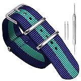 12 millimetri blu/verde/blu scuro elegante morbido stile NATO sostituzione cinghia scuro orologio di...
