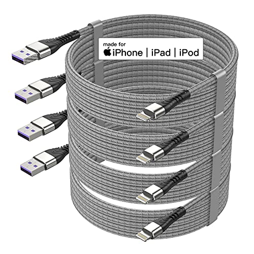 4Pack【Apple MFi Certified 】iPhone Charger...