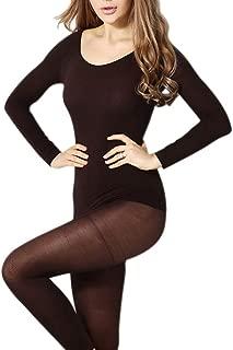 CHENGYANG Donna Inverno Coordinati Abbigliamento Ttermico Intima Set Maglie e Pantaloni Termici