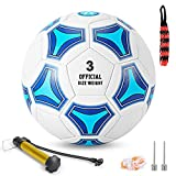STEEFAN Soccer Ball Size 3/4/5 for Kids Outdoor Play,Color Change Soccer Stuff with Official Size Ball Needles and Air Pump,Gift Idea for Kid Teen Boy Girl Junior and Men Women,Indoor Outdoor Game Soccer Ball
