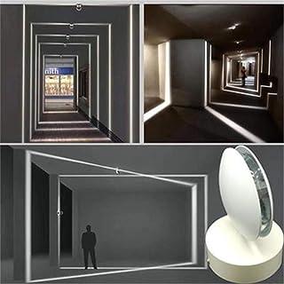 Luz lineal Lámpara de techo, Luz de techo led giratoria, 10W, 3000K, moderno foco de techo, lámpara de techo LED adecuada para Sala de estar alféizar de la ventana Corredor, 200V (Luz fría)