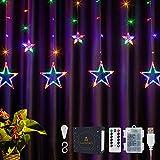DazSpirit LED Luces Estrellas de Navidad Guirnaldas, con 12 Estrella, control...