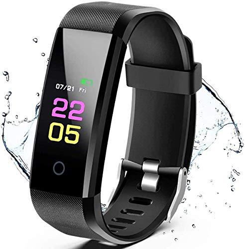 Monitor de Actividad física, Monitor de Actividad con Monitor de frecuencia cardíaca, Monitor de sueño y Reloj Inteligente a Prueba de Agua IP67, Compatible con Smartphone
