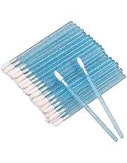 100 STKS Wegwerp Crystal Lip Borstels, Blauwe Lipstick Concealer Borstels, Lip Gloss Applicator Wands Perfecte Make-up Tool Kits