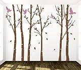 Adesivi Creativi Adesivo Sticker murale Bosco 2 Dimensioni 250 X 200 cm   Wall Stickers   Adesivi da Parete   Decorazione murale   Decalcomania