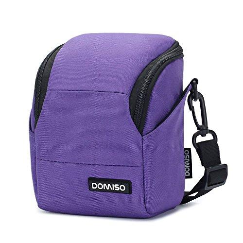 DOMISO Funda Bolsa para cámaras Digitales compactas Bolso Bandolera, Púrpura