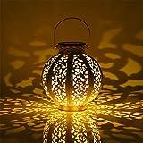 Aigostar Opal - Lámpara solar decorativa para jardín y exteriores. Luz cálida 3000K, IP44 a...