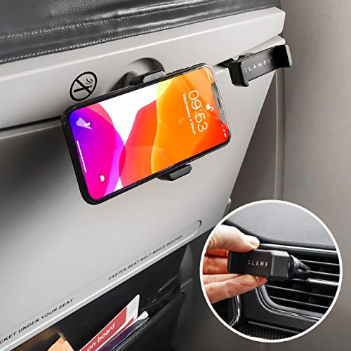 CLAMPY Telefoonhouder vliegtuig en auto - Phone holder plane and car - Universeel 360° Verstelbaar - Universal 360° Adjustable - High quality - Black