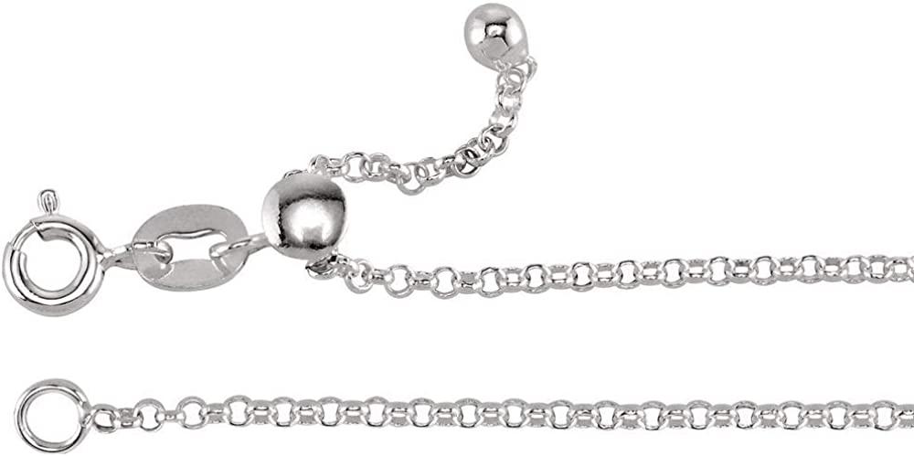 Ryan Jonathan High material Fine Jewelry Sterling Rolo online shop Silver Adjustable 1.5mm