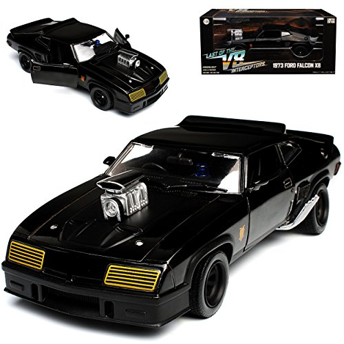 Greenlight Ford XB Falcon Tuned Version Mad Max II 2 Black Interceptor Schwarz 1973 1/24 Modell Auto