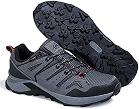 ARRIGO BELLO Mens Hiking Shoes Anti Slip Running Shoes Outdoor Lightweight Trekking Trails Jogging Shoes Grey