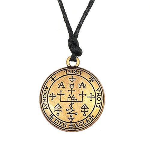 Fishhook Halskette mit Talisman-Anhänger, Wicca, Das Siegel des Erzengels Uriel, Feuer Gottes