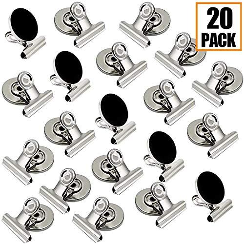 AMZSUPER ERA Magnet Clips Kühlschrankmagnete Für Kühlschrank Tafel Büro Küche Extra Stark Magnetclips - 2 Größen (Silber)