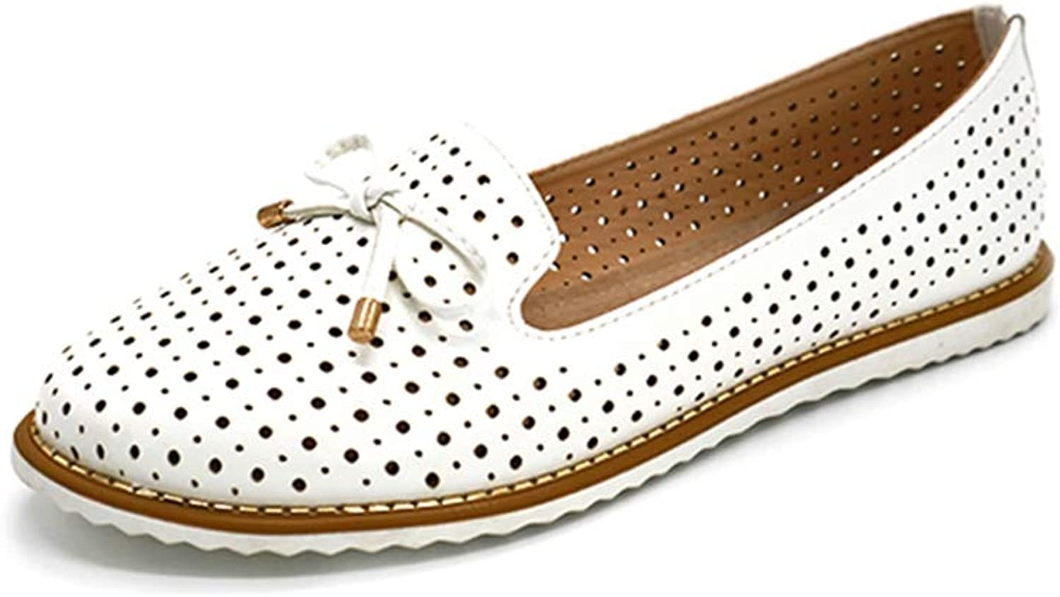 T-JULY Flat shoes Women Flats Ladies Dress shoes Sneakers White Loafers Slip -On Casual shoes Women's shoes Casual Dress