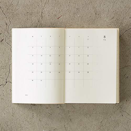 デザインフィルミドリMDノートダイアリー手帳2021年A5デイリー22060006(2020年12月始まり)