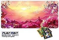 かっこいい ポケモンカード 専用 プレイマット とっても丈夫 高級感 厚手 ポケモンカード バトル シート デスクマット マウスパッド 3way Syaraku&GENESIS ppn88 (枠なし)